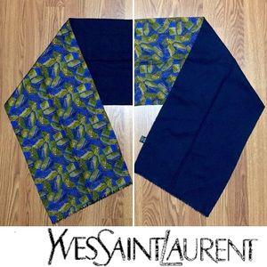 YvesSaintLaurent • Vintage Silk & Wool Long Scarf